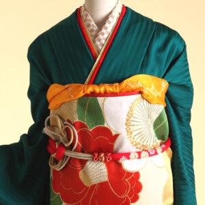 京美オリジナルの「無地振」の緑が完成しました!